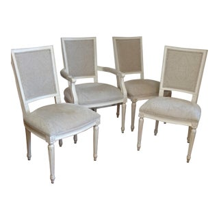 Ethan Allen Louis XVI Style Dining Chairs - Set of 4