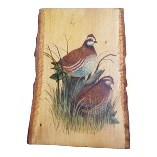 Quail Oil Painting on Wood