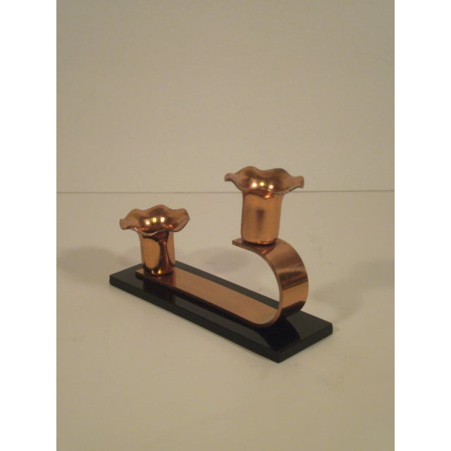 Vintage Copper & Plexiglass Candle Holders - Pair - Image 5 of 8