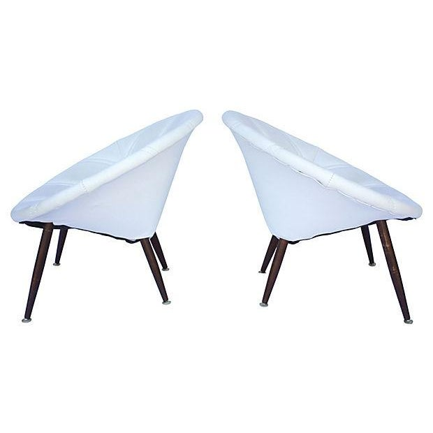 Image of Douglas Eaton MCM Saucer Chairs - A Pair