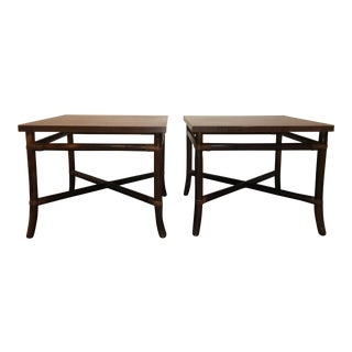 Mid-Century Bamboo Tables - Pair