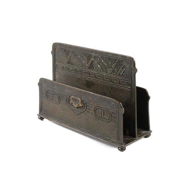 Tiffany Studio New York- Bronze Desk Letter Holder - Image 4 of 9