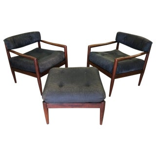 Adrian Pearsall for Craft Lounge Chairs & Ottoman