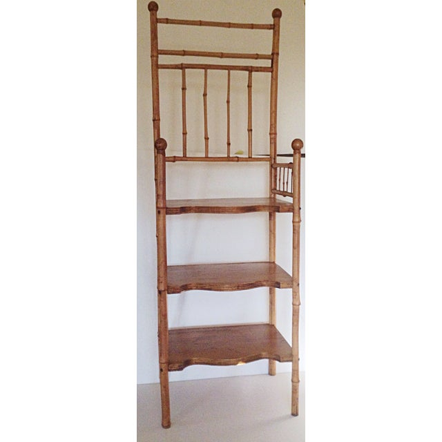 Bamboo & Wood Etagere Chair - Image 2 of 4