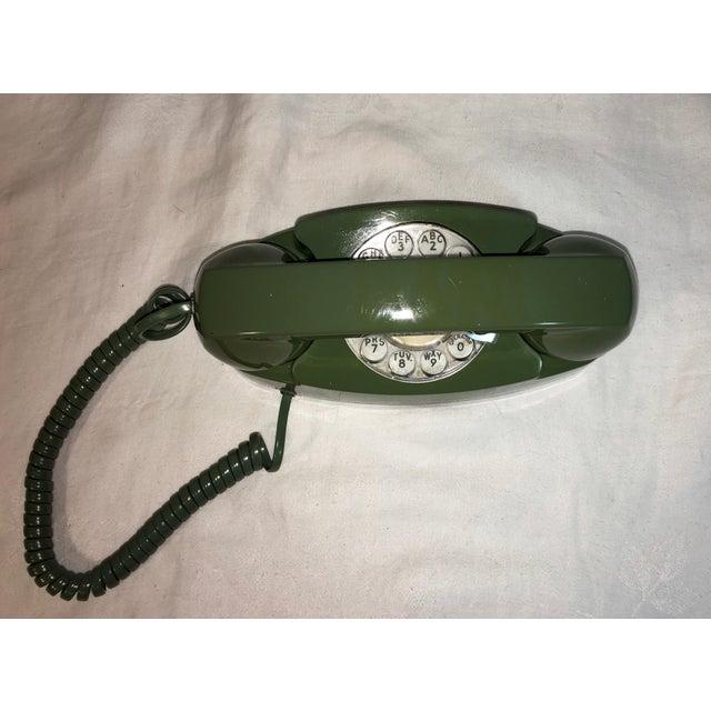 Vintage Pea Green Rotary Princess Phone - Image 6 of 8