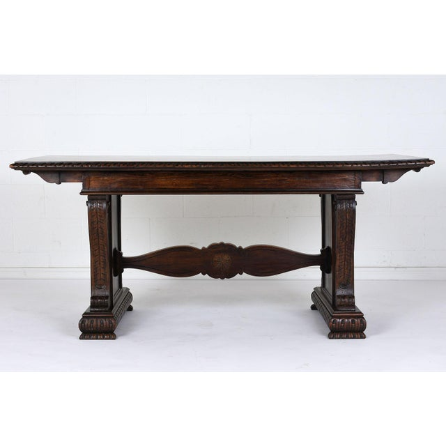 Antique Italian Baroque-style Desk or Library Table - Image 8 of 8