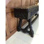 Image of Antique English 17th Century Oak Bench