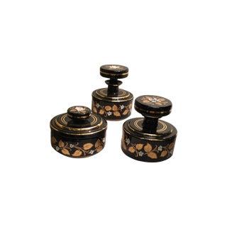 Mid-Century Boho Ladies Dresser Pieces - Set of 3