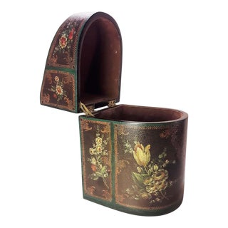 Jeanne Reed Victorian Hand Painted Faux Leather Box