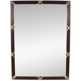 Mahogany & Silver Gilt Beveled Mirror