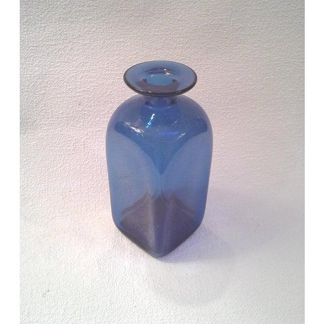 Image of Mid-Century Blue Bottle Vase