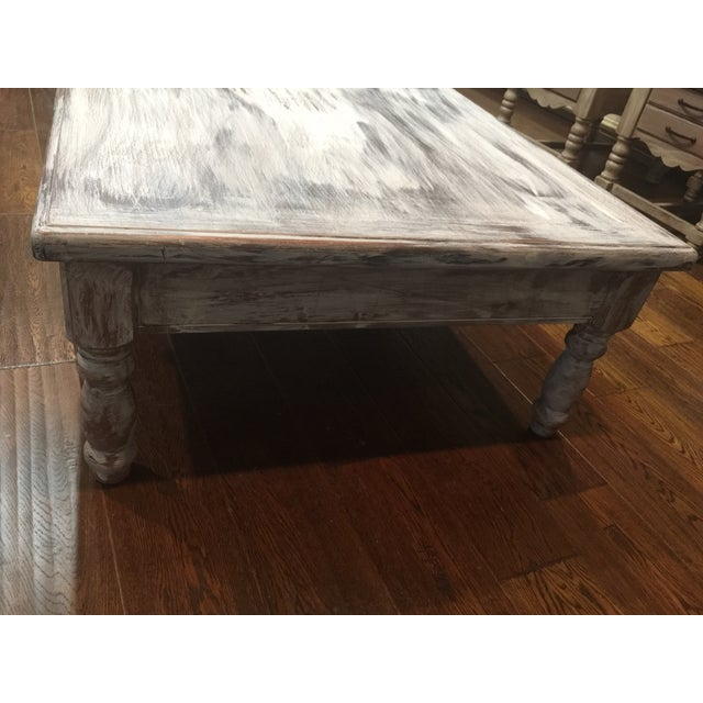 Distressed Solid Oak Square Coffee Table Chairish