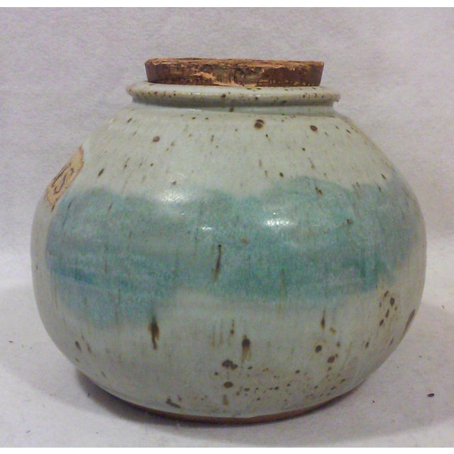 Mid-Century Studio Pottery Stoneware Cookie Jar - Image 3 of 8