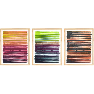 Line Series Monoprint - Triptych No. 1 2 4