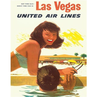 Vintage Reproduction Las Vegas Travel Poster