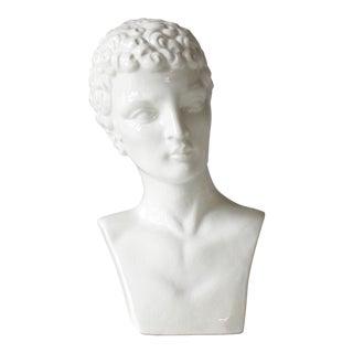 Vintage Ceramic Bust of David Statue