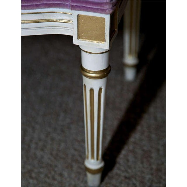 French Louis XVI Style Painted Foot Stools - Pair - Image 4 of 6