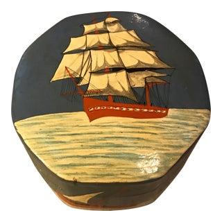 Nautical Ship Lacquer Trinket Box