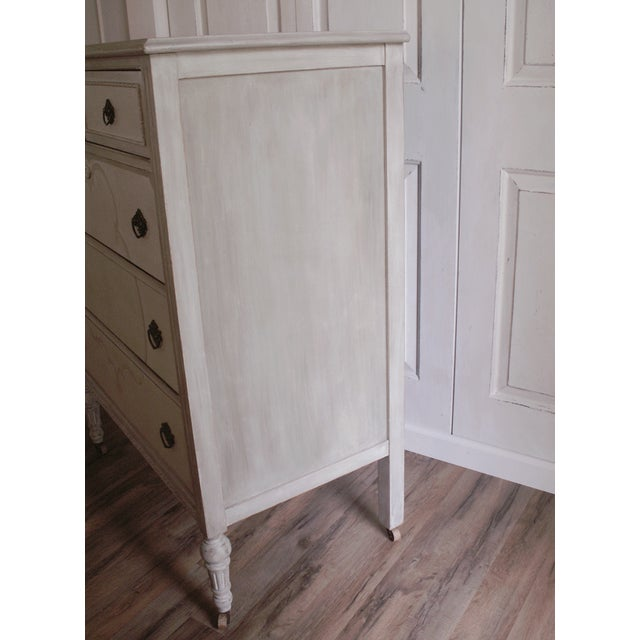 Hand-Painted Vintage Tall Dresser - Image 10 of 10