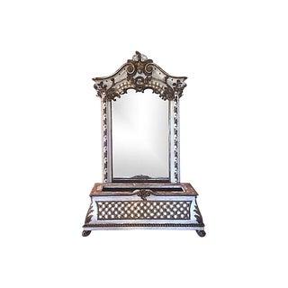 19 Century Italian Rococo Mirrored Bench