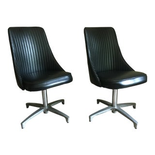 Vintage Chromcraft Black Chairs - A Pair