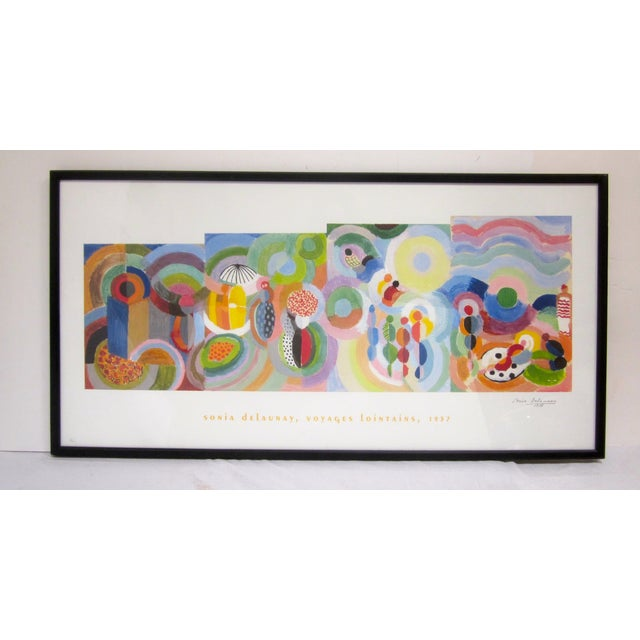 Sonia Delaunay Abstract Geometric Framed Art - Image 5 of 9