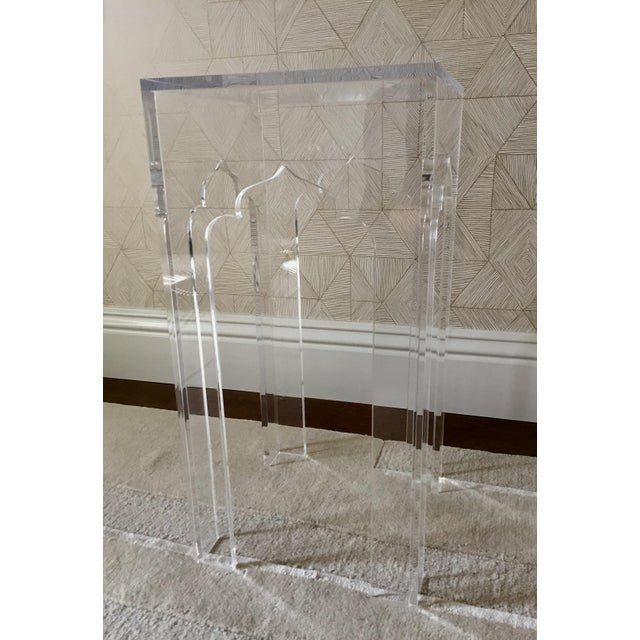 White Webb Clear Acylic Alexander Side Table - Image 2 of 3