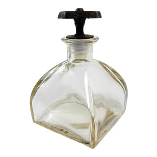 Glass Bottle With Industrial Metal Factory Knob Lid