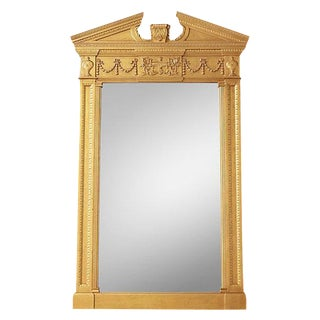 RH Gold Gilded Entablature Federal Style Mirror