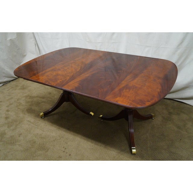 Kindel Flame Mahogany Duncan Phyfe Dining Table - Image 3 of 9