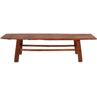 Antique Chinese Elm Primitive Bench