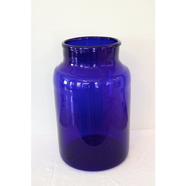 Image of European Cobalt Glass Pickling Jar 17""