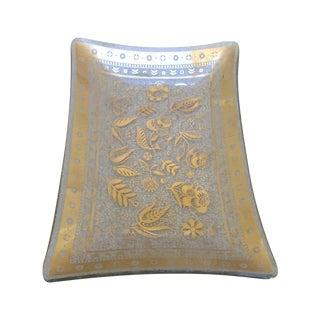 Georges Briard Rectangular Textured Gold Dish