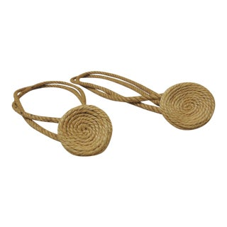 Braided Jute Tie Backs - A Pair