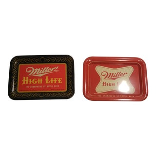 Mid-Century Beer Tray Coasters 1952 - Set of 2