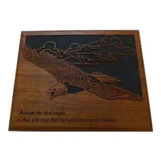 Mid-Century Inspirational Eagle Plaque