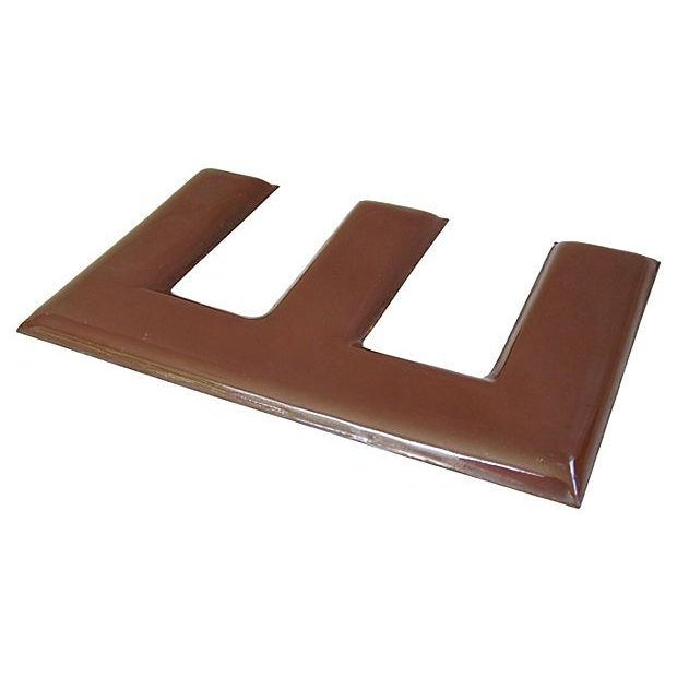 1950s Chocolate Brown Porcelain Letter E - Image 4 of 5