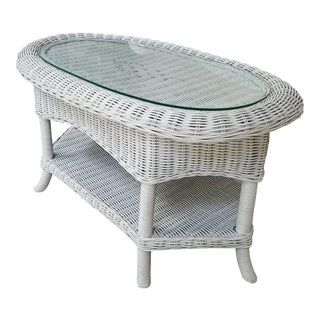 Antique Victorian Wicker Coffee Table