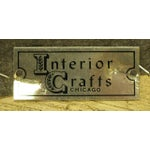 Image of Pair of Interior Crafts Crewel and Driftwood Oak Bergeres