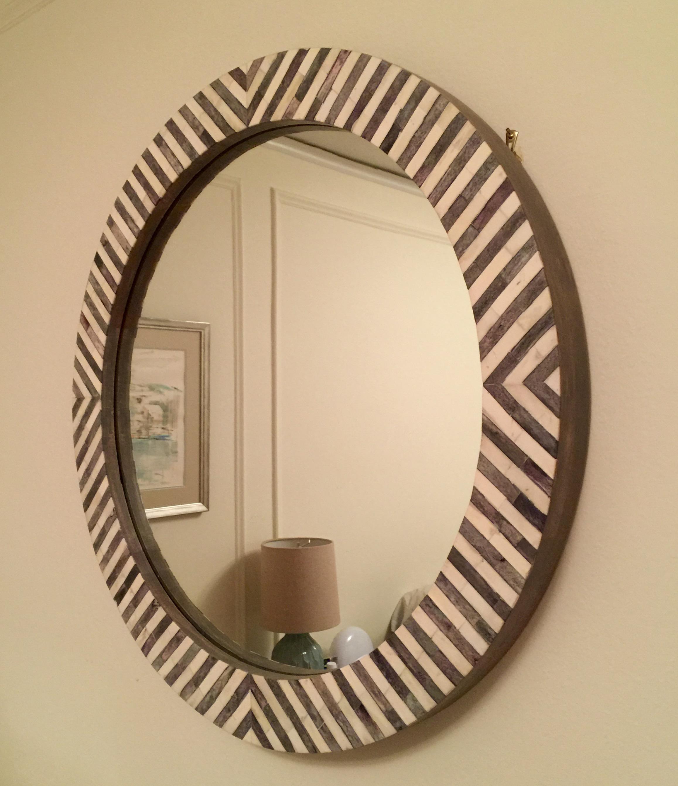 Herringbone mirror