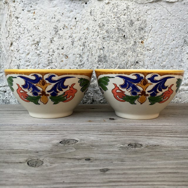 Hand Made Painted Bowls - Pair - Image 3 of 8