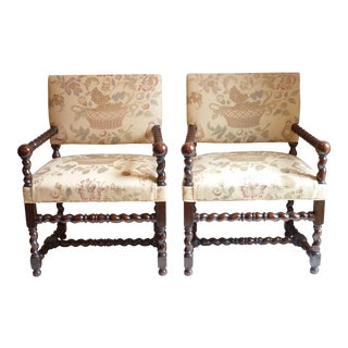 Barley Twist Armchairs - A Pair