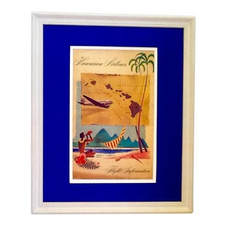 Vintage Framed, Matted Hawaii Poster
