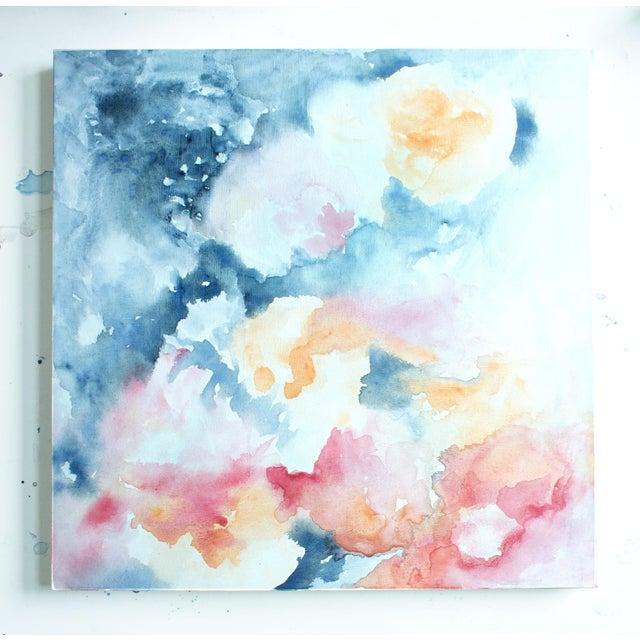 """Ellen Sherman """"Water Lilies"""" Original Painting - Image 2 of 5"""