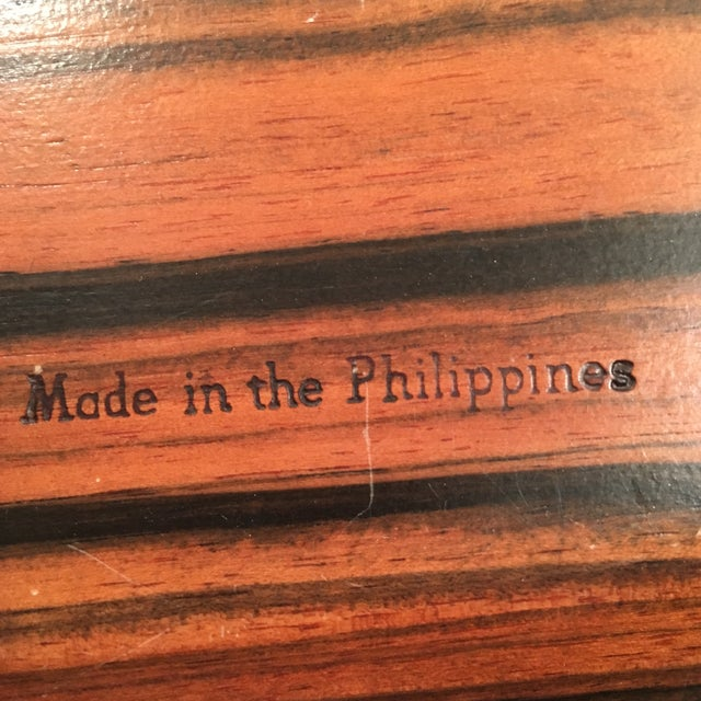 Kamagong Wood Tray - Made in the Philippines - Image 5 of 5