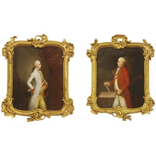 Leopold and Joseph II, Holy Roman Emperor / 18th Century Austrian Portrait Pair