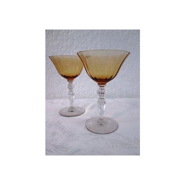 Vintage Raspberry & Honey Wine Glasses - S/4 - Image 5 of 6