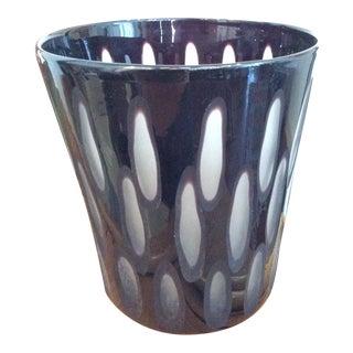 Dark Purple Glass Vase