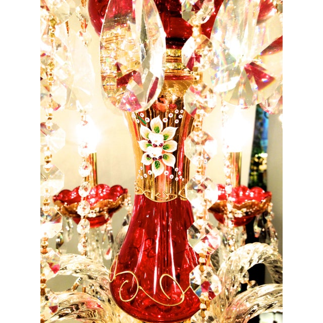Red Crystal Chandelier - Image 8 of 8