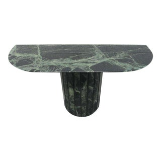 Italian Green Marble Console Table Attributed to Willy Rizzo